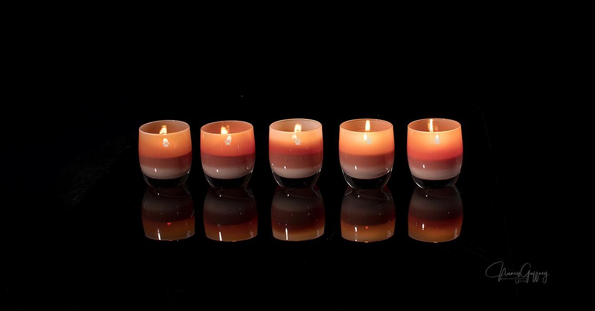 glassybaby Water Dog Love votive candleholder